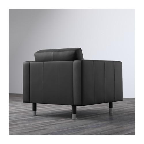 LANDSKRONA - armchair, Grann/Bomstad black/metal   IKEA Hong Kong and Macau - PE596388_S4