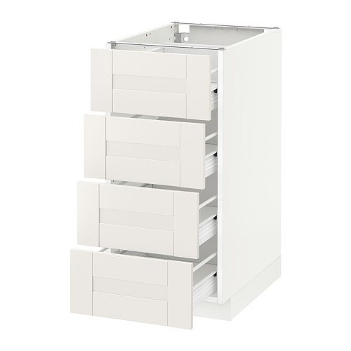 METOD - base cab 4 frnts/4 drawers, white Förvara/Sävedal white | IKEA Hong Kong and Macau - PE655967_S4