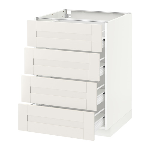 METOD - base cab 4 frnts/4 drawers, white Förvara/Sävedal white | IKEA Hong Kong and Macau - PE656004_S4