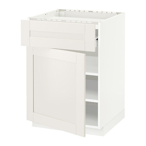 METOD - base cab f hob/drawer/shelves/door, white Förvara/Sävedal white | IKEA Hong Kong and Macau - PE656024_S4