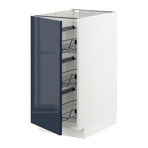METOD - base cabinet with wire baskets, white/Järsta black-blue | IKEA Hong Kong and Macau - PE704067_S4