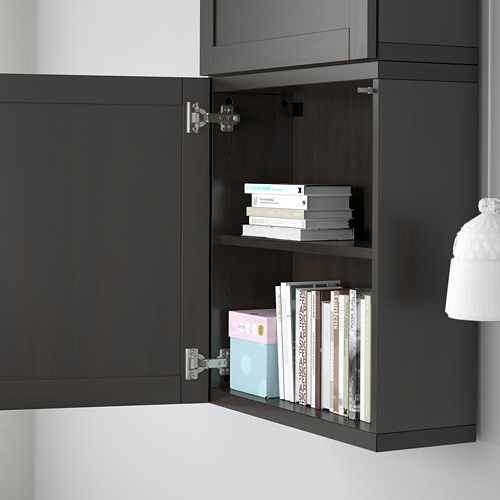 BESTÅ - 雙門吊櫃, black-brown/Hanviken black-brown   IKEA 香港及澳門 - PE561354_S4