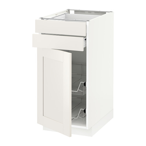 METOD - base cb w door/2 drwrs/wire bskts, white Förvara/Sävedal white | IKEA Hong Kong and Macau - PE656096_S4