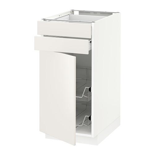 METOD base cb w door/2 drwrs/wire bskts