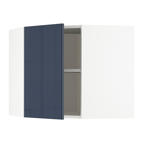 METOD - corner wall cabinet with shelves, white/Järsta black-blue | IKEA Hong Kong and Macau - PE704094_S4