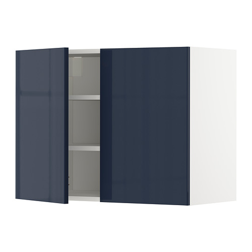 METOD - wall cabinet with shelves/2 doors, white/Järsta black-blue | IKEA Hong Kong and Macau - PE704098_S4