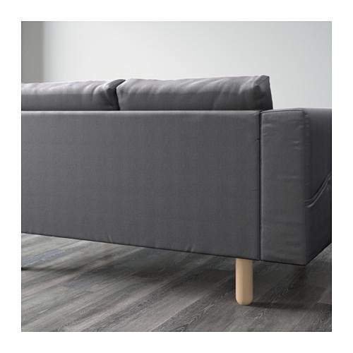NORSBORG - 四座位梳化, 連躺椅/Finnsta 深灰色/樺木 | IKEA 香港及澳門 - PE596594_S4
