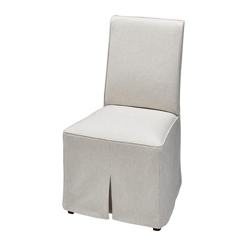 BERGMUND - chair cover, long, Kolboda beige/dark grey | IKEA Hong Kong and Macau - PE779087_S4