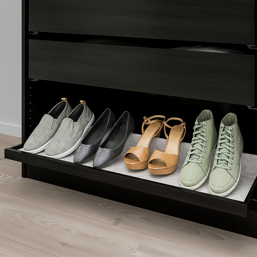 KOMPLEMENT - pull-out tray with shoe insert, black-brown/light grey   IKEA Hong Kong and Macau - PE779116_S4