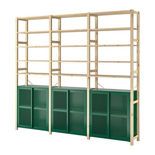 IVAR - 貯物組合, 松木/綠色 網狀 | IKEA 香港及澳門 - PE798148_S4