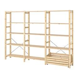 IVAR - shelving unit with storage box, pine | IKEA 香港及澳門 - PE798145_S3