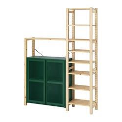 IVAR - 層架連貯物櫃及抽屜, pine/green mesh | IKEA 香港及澳門 - PE798150_S3
