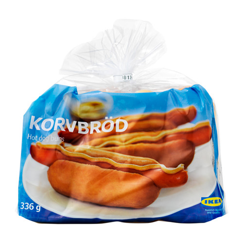 KORVBRÖD hot dog bread, frozen