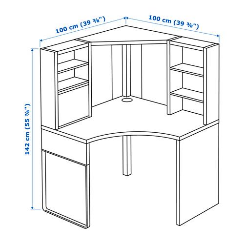 MICKE - corner workstation, width 100 x depth 100cm, white   IKEA Hong Kong and Macau - PE656302_S4