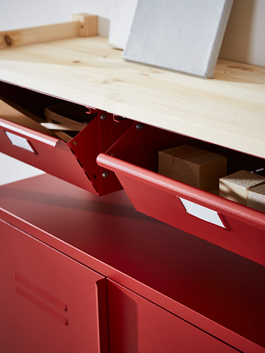 IVAR - 3 sections/cabinet/shelves, 260x30x124 cm, pine red | IKEA Hong Kong and Macau - PH169445_S4
