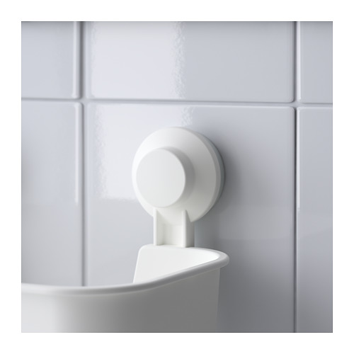 TISKEN - 貯物籃連吸盤, 白色 | IKEA 香港及澳門 - PE704364_S4