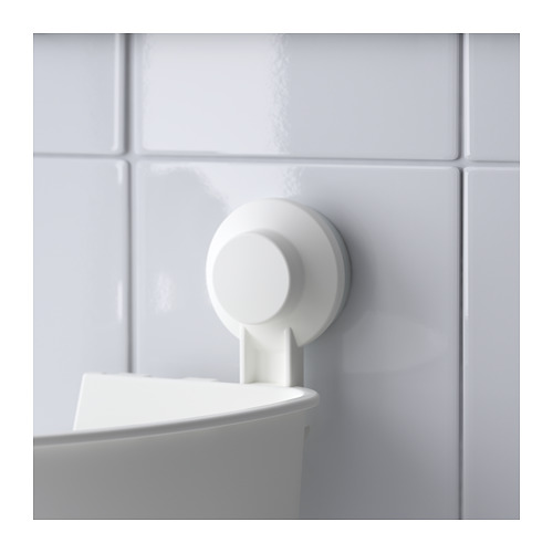 TISKEN - 角位層架組合連吸盤, 白色 | IKEA 香港及澳門 - PE704366_S4