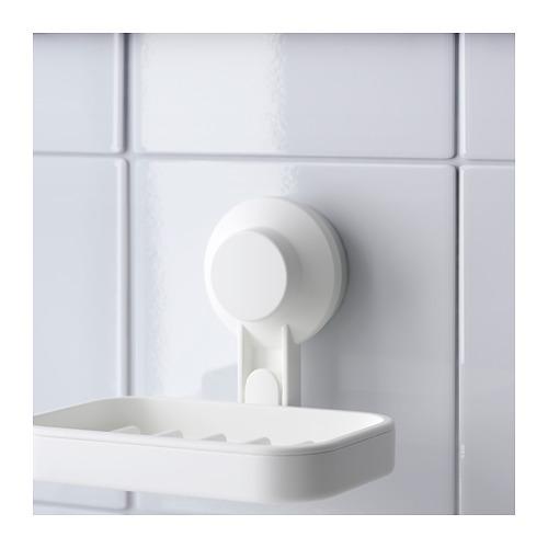 TISKEN - 肥皂碟連吸盤, 白色 | IKEA 香港及澳門 - PE704370_S4