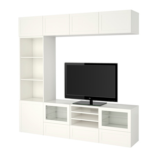 BESTÅ - TV storage combination/glass doors, Hanviken white clear glass | IKEA Hong Kong and Macau - PE535341_S4