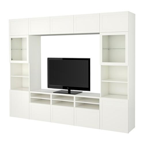 BESTÅ - 電視貯物組合/玻璃門, Hanviken 白色/透明玻璃 | IKEA 香港及澳門 - PE535301_S4