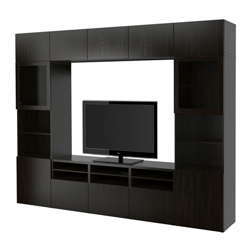 BESTÅ - TV storage combination/glass doors, Lappviken/Sindvik black-brown clear glass | IKEA Hong Kong and Macau - PE535305_S4