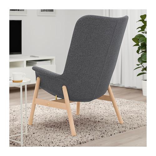 VEDBO - high-back armchair, Gunnared dark grey | IKEA Hong Kong and Macau - PE704426_S4