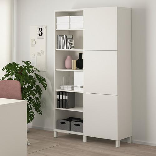BESTÅ - storage combination with doors, white/Lappviken/Stubbarp white | IKEA Hong Kong and Macau - PE744445_S4