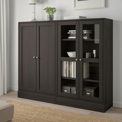 HAVSTA - storage combination w glass-doors, dark brown | IKEA Hong Kong and Macau - PE693038_S4