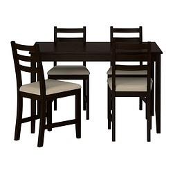 LERHAMN - 一檯四椅, 棕黑色/Vittaryd 米黃色 | IKEA 香港及澳門 - PE386035_S3