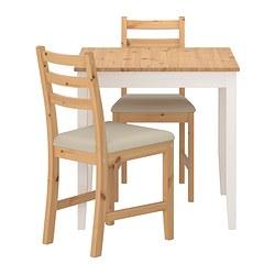 LERHAMN - 一檯兩椅, 淺仿古染色 染白/Vittaryd 米黃色 | IKEA 香港及澳門 - PE386034_S3
