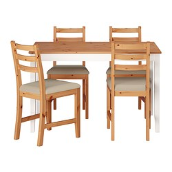 LERHAMN - 一檯四椅, 淺仿古染色 染白/Vittaryd 米黃色 | IKEA 香港及澳門 - PE386033_S3