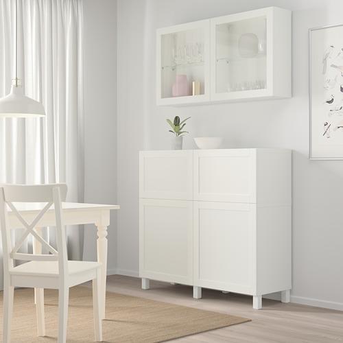 BESTÅ - 貯物組合連門/抽屜, white/Hanviken/Stubbarp white clear glass   IKEA 香港及澳門 - PE744475_S4