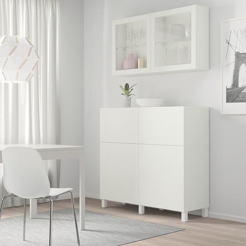 BESTÅ - 貯物組合連門/抽屜, white/Lappviken/Stubbarp white clear glass   IKEA 香港及澳門 - PE744476_S4