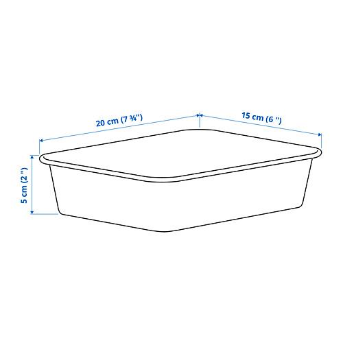NOJIG - 貯物盒, 15x20x5 cm, 塑膠/米黃色   IKEA 香港及澳門 - PE801276_S4
