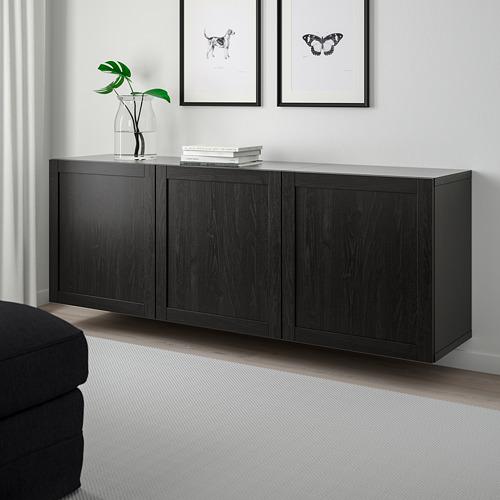 BESTÅ - 上牆式貯物組合, black-brown/Hanviken black-brown   IKEA 香港及澳門 - PE744513_S4
