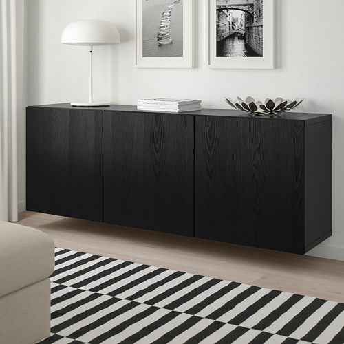 BESTÅ - 上牆式貯物組合, black-brown/Timmerviken black | IKEA 香港及澳門 - PE744502_S4