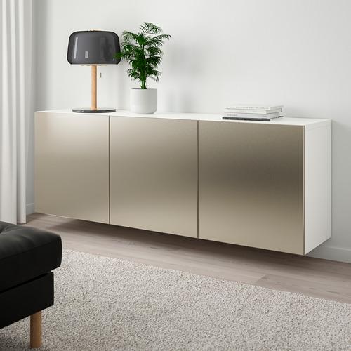 BESTÅ - 上牆式貯物組合, white/Riksviken light bronze effect   IKEA 香港及澳門 - PE744506_S4