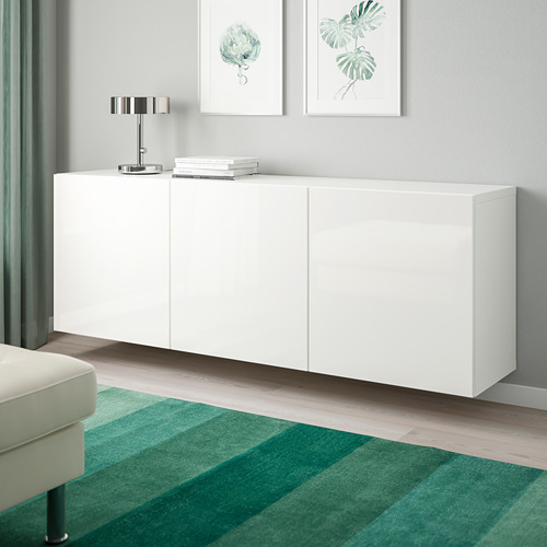 BESTÅ - 上牆式貯物組合, white/Selsviken high-gloss/white | IKEA 香港及澳門 - PE744511_S4