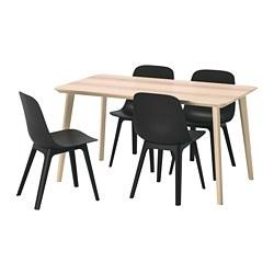 ODGER/LISABO - 一檯四椅, 梣木飾面/炭黑色 | IKEA 香港及澳門 - PE744531_S3