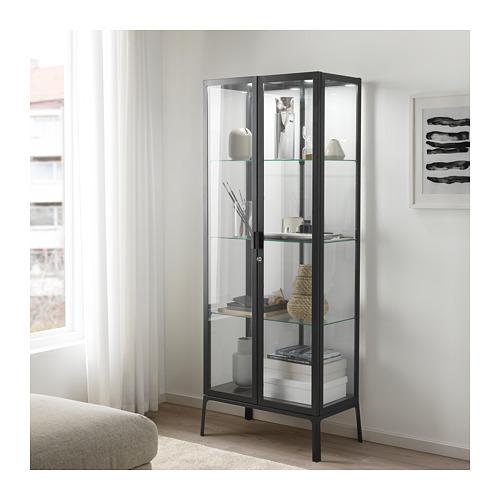 MILSBO - glass-door cabinet, anthracite | IKEA Hong Kong and Macau - PE704499_S4