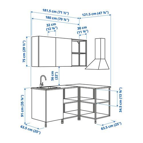 ENHET - 角位廚房, 炭黑色/白色 | IKEA 香港及澳門 - PE798553_S4