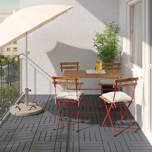 TÄRNÖ - 戶外檯連四椅組合, red/light brown stained/Kuddarna beige | IKEA 香港及澳門 - PE798566_S4