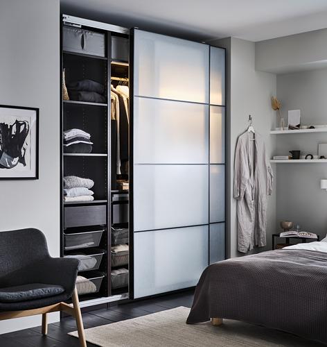 PAX - 2個衣櫃框, 棕黑色 | IKEA 香港及澳門 - PH171120_S4