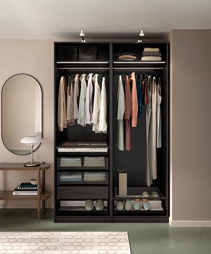 PAX - wardrobe combination, black-brown   IKEA Hong Kong and Macau - PH171182_S4
