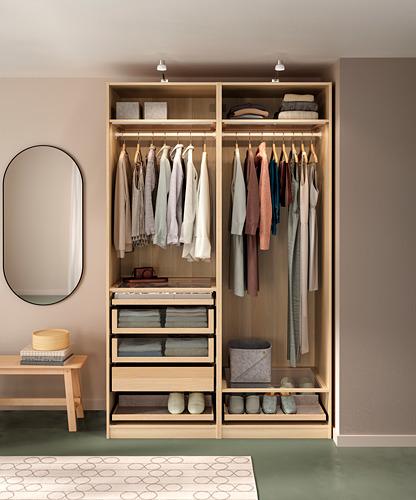 PAX - wardrobe combination, white stained oak effect | IKEA Hong Kong and Macau - PH171205_S4