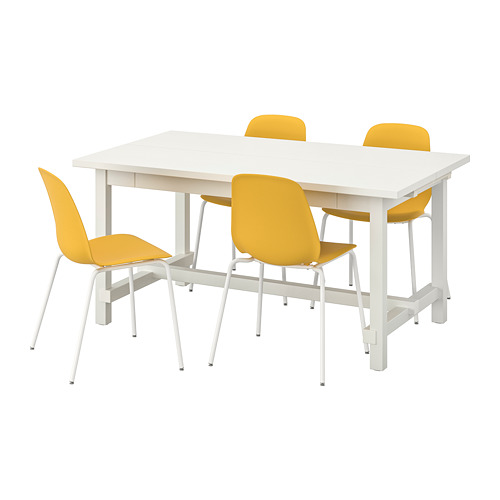 LEIFARNE/NORDVIKEN - table and 4 chairs, white/Broringe white | IKEA Hong Kong and Macau - PE744580_S4