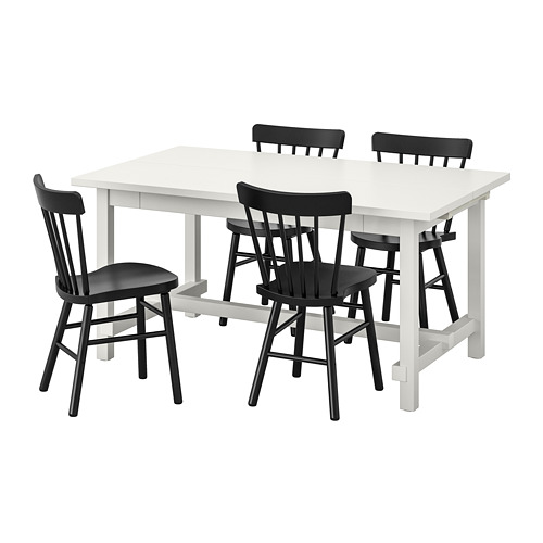 NORRARYD/NORDVIKEN - table and 4 chairs, white/black | IKEA Hong Kong and Macau - PE744613_S4