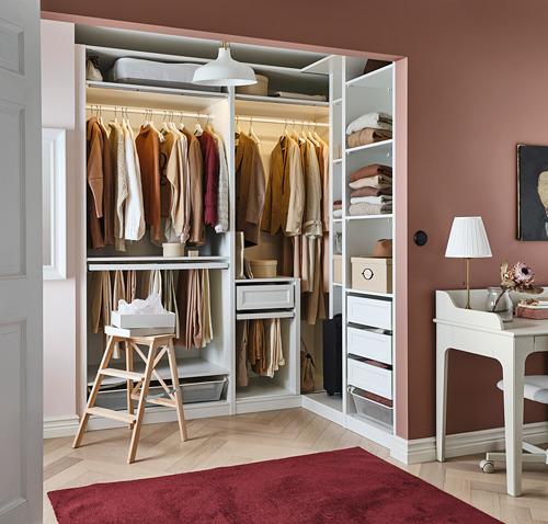 PAX - 角位衣櫃, 白色   IKEA 香港及澳門 - PH171112_S4