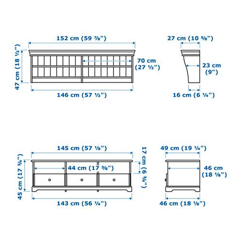 LIATORP - TV storage combination, white | IKEA Hong Kong and Macau - PE656811_S4