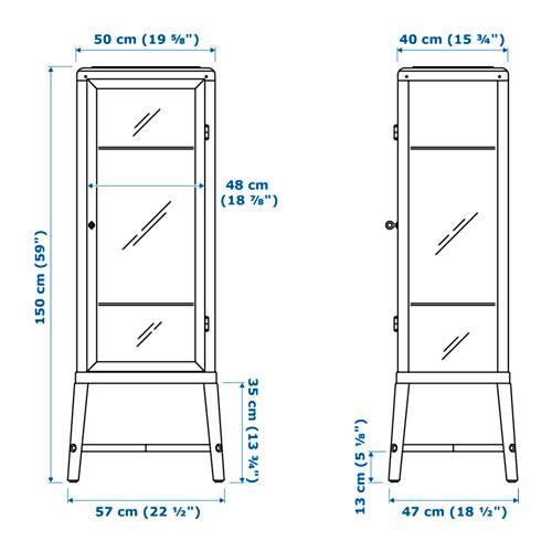 FABRIKÖR - glass-door cabinet, dark grey | IKEA Hong Kong and Macau - PE656816_S4